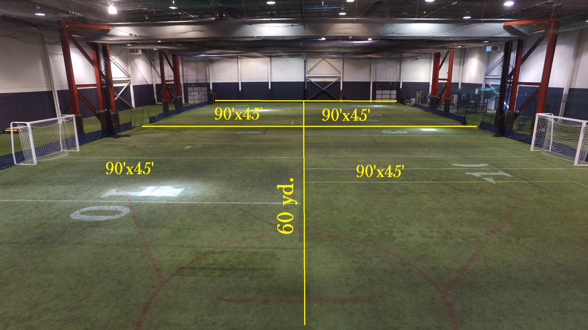 Rental info for Indoor sport court dimensions